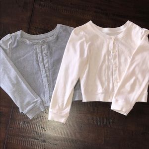 Set of two lace front cotton cardigans size 5/6